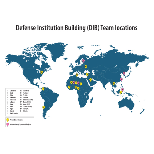 map of Defense Institution building locations